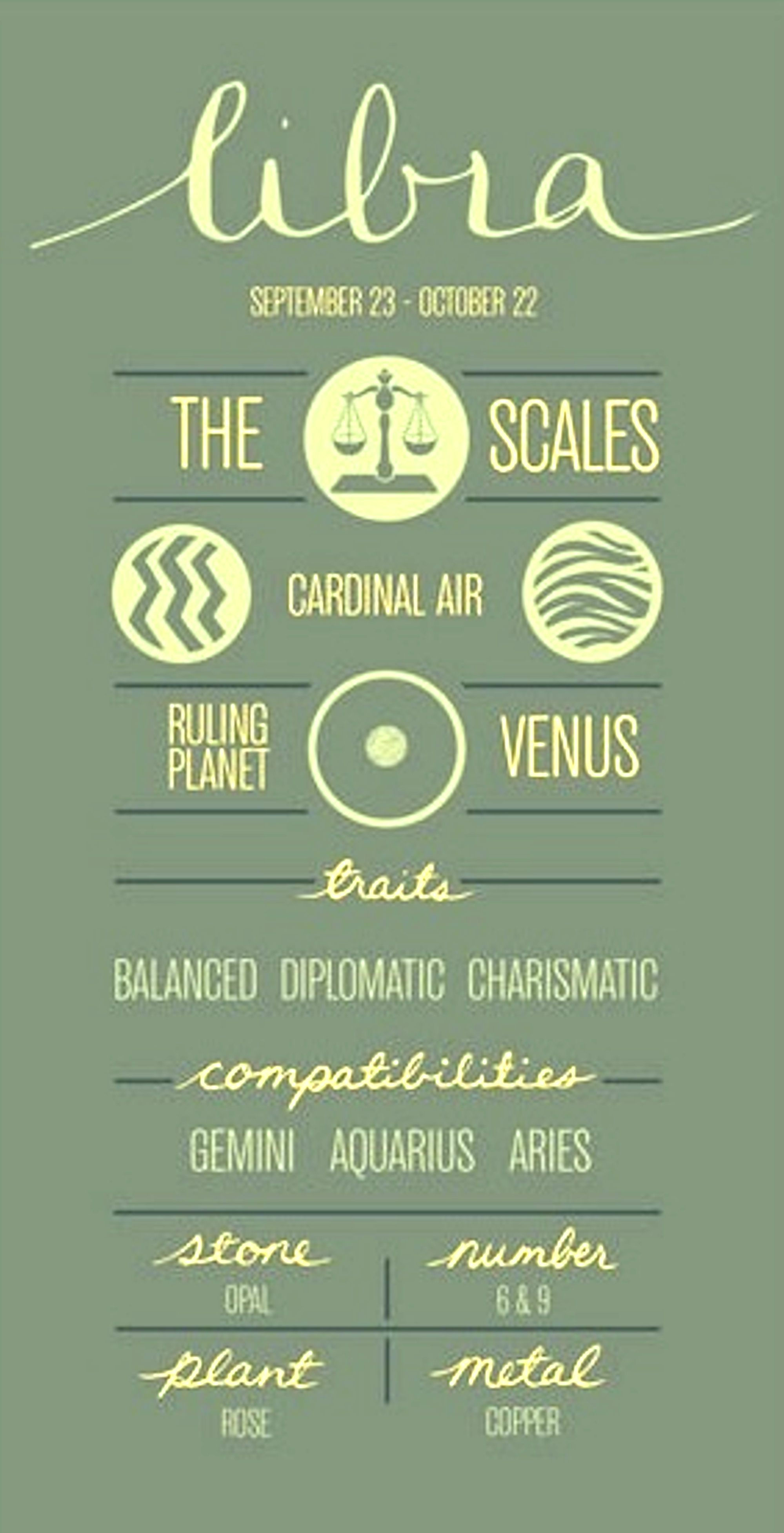 Libra Sign: The scales Cardinal air Ruled: by Venus