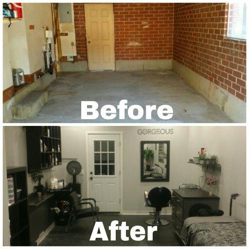 My Garage To New Salon Conversion No More Little Basement Salon