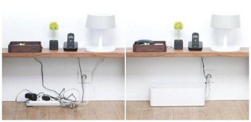 El arte de esconder cables en el hogar decoraci n pinterest home cable y desk - Cubre escritorio ...