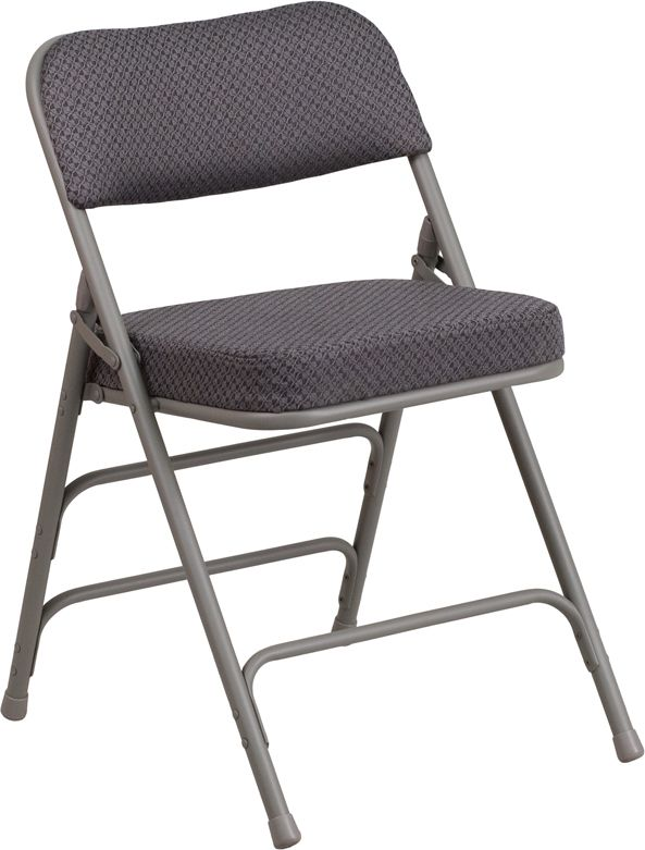Hercules Gray Fabric Upholstered Metal Folding Chair Flash Furniture Aw Mc320af Gry Gg In 2020 Folding Chair Metal Folding Chairs Padded Folding Chairs