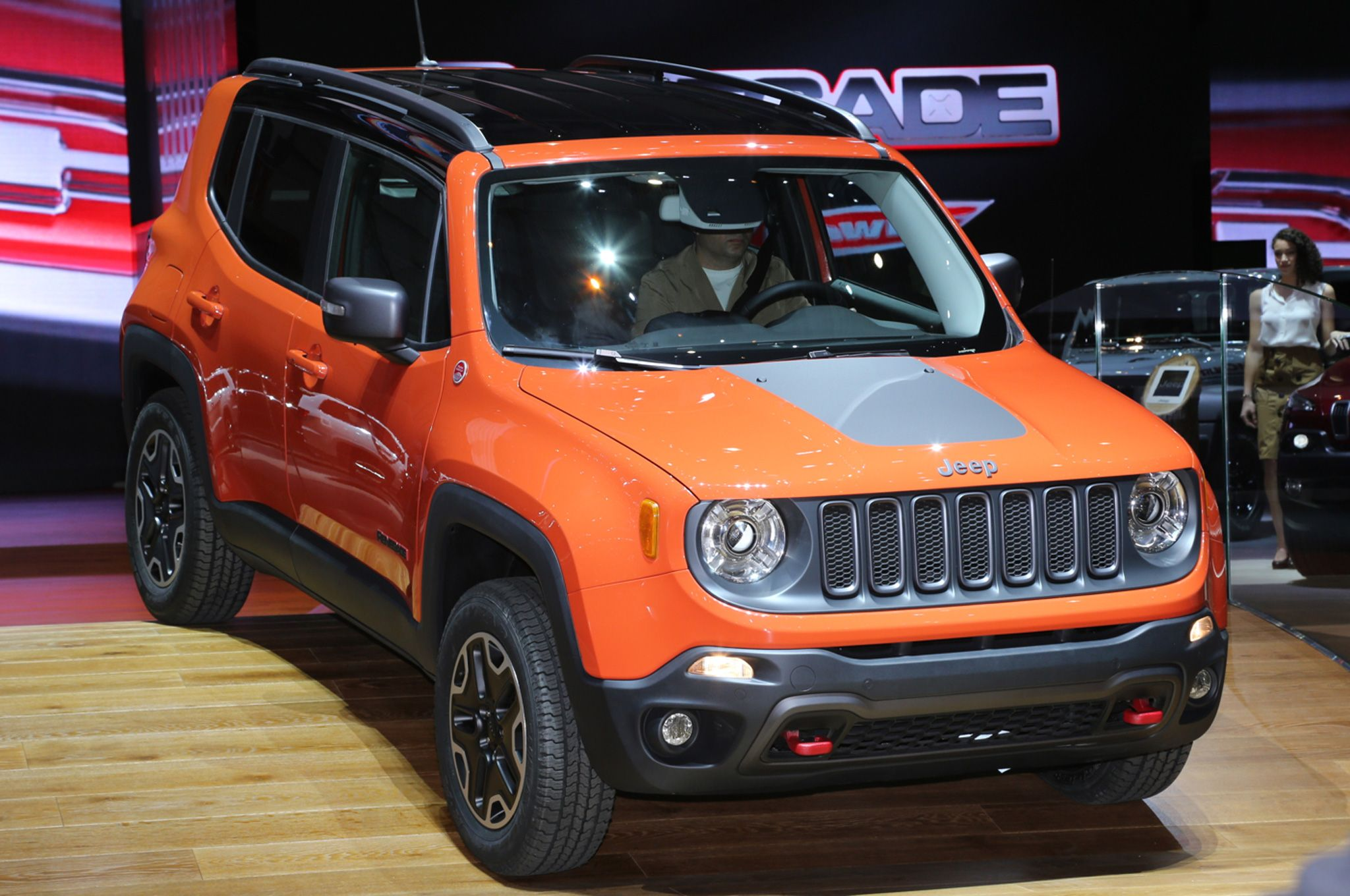Jeep renegade 2015 jeep renegade trailhawk show floor on stage