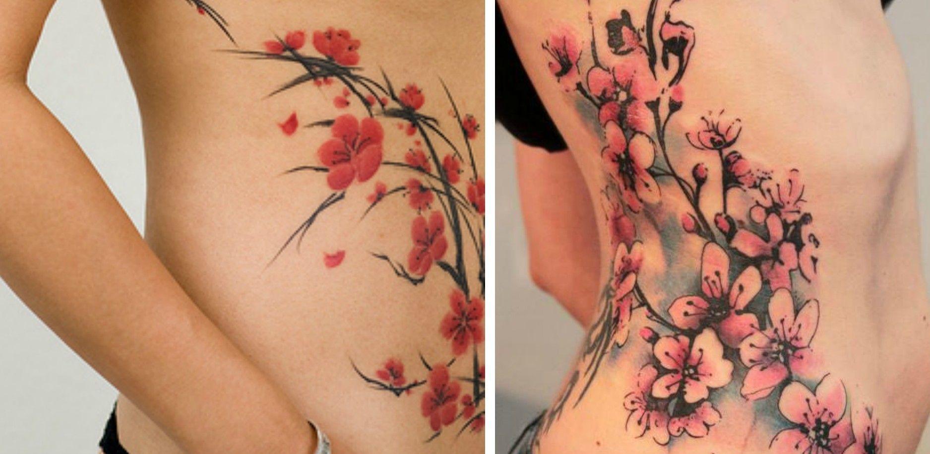 Tatouage Fleurs De Cerisier Tattoo Tatouage Tatouage Fleur Et