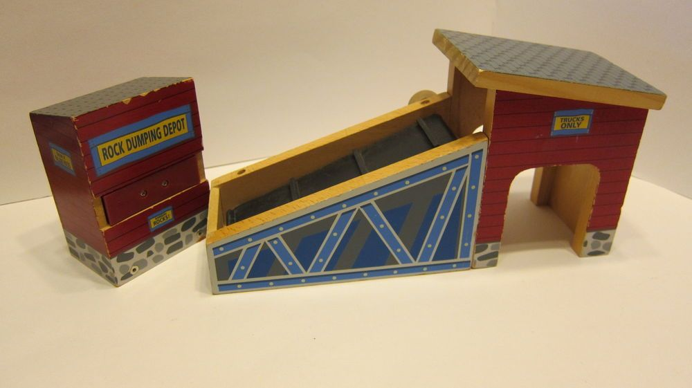 2003 Imaginarium Rock Quarry wooden Train Buildings Set Thomas Brio ...