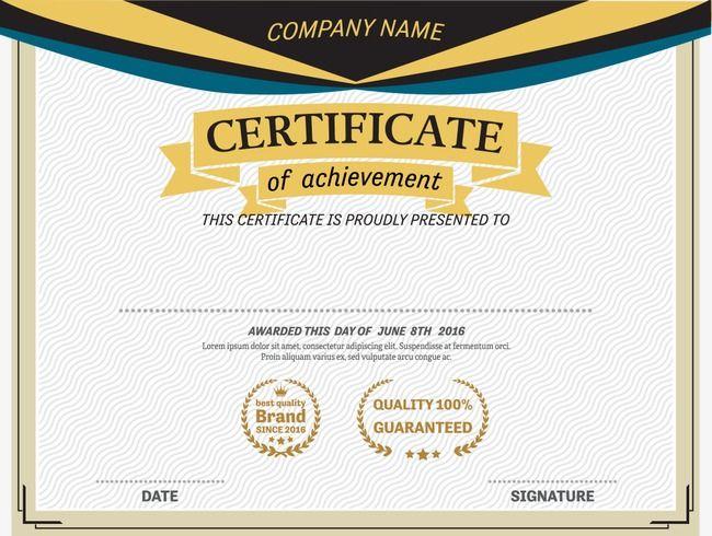 Pale Yellow Certificatecertificate Bordercertificatevector