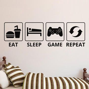 Eat Sleep Game Repeat Video Game Decor Gaming Decor Gamer Art Gamer Decor Gamer Room Decor Gaming Printable Wa Video Game Decor Gaming Decor Gamer Decor
