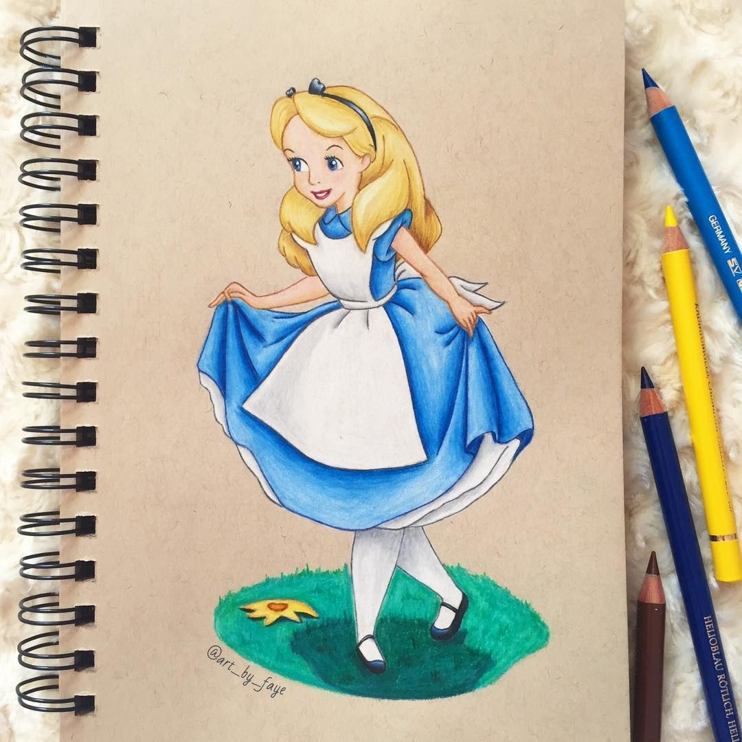 Quick Drawing Of Alice In Wonderland What Do You
