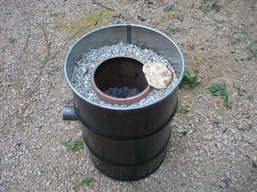 Fire Clay Pipes : Garbage can and flower pot tandoor oven steel drum