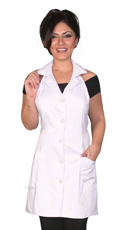 White apron brisbane - Esthetician Jacket Apron White Fashion Apron Fitted Apron Salon Apron Salon Wear Cute Apron Spa Wear Glitter Apron Hairdresser