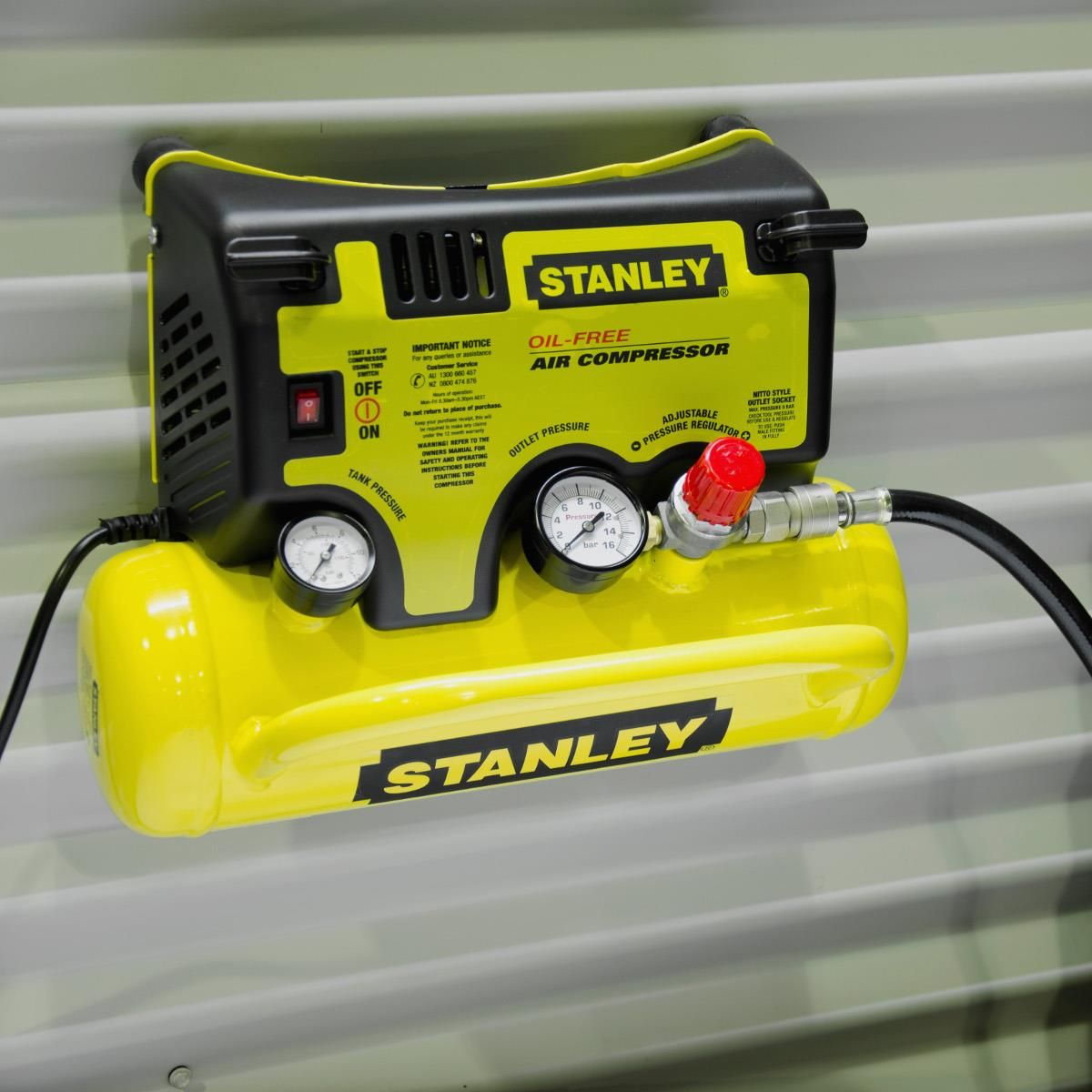 Stanley Wall Mount Air Compressor 0.5HP 14LPM