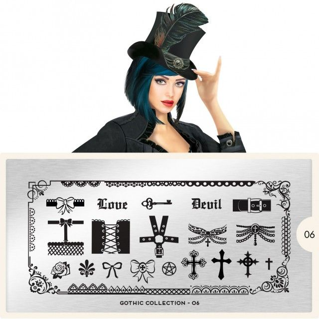 MoYou London stamping plate Gothic Collection 06