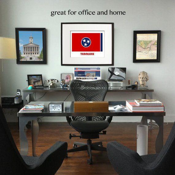 Our Flag Print Tennessee Flag Wall Art Office Decor Flag Art Children Printable Art Home Deco Home Home Office Quartos Masculinos Modernos