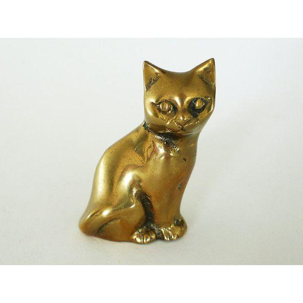 Mid Century Mid Century Cat Figurine Vintage Brass Cat Sculpture Brass Cat Statue Gold Cat Vintage Feline Hollywood Regency