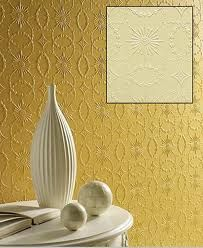 Mustard Textured Wallpaper Design Give Your Walls Some Pizazz