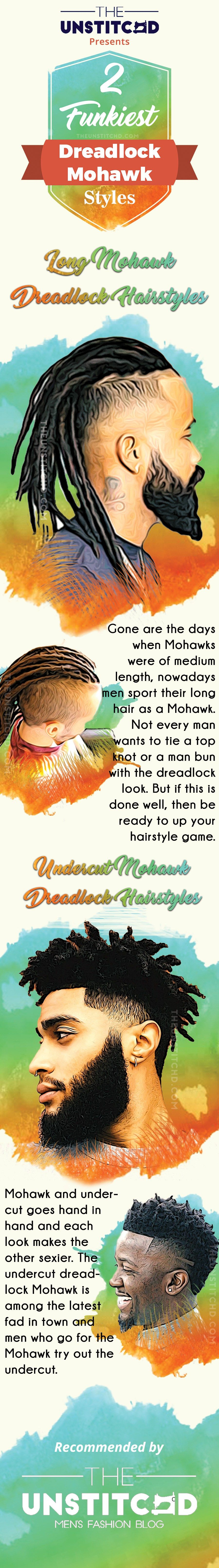 The coolest mohawk dreadlocks hairstyle for men to try dreadlock