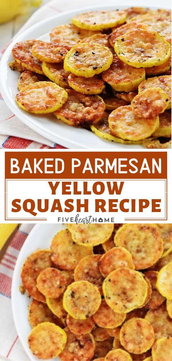 Baked Parmesan Yellow Squash Recipe -   17 squash recipes ideas