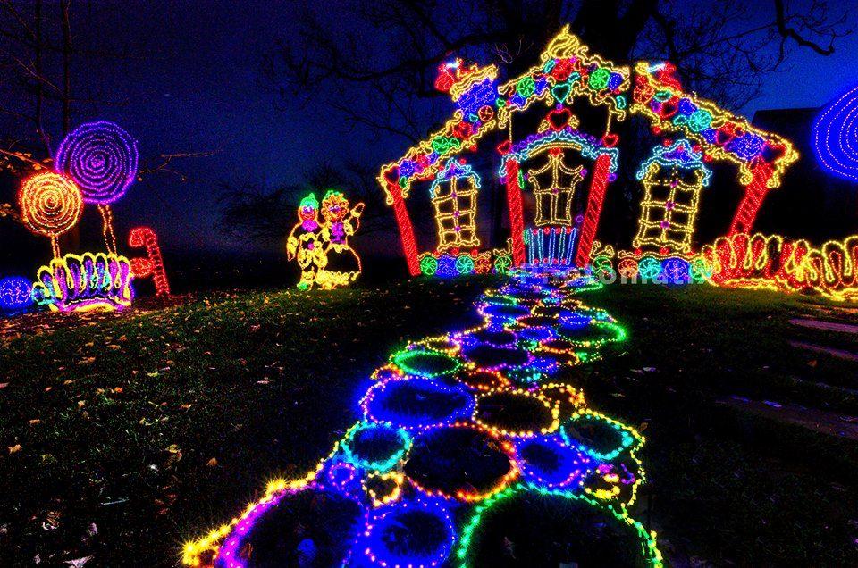 Rock City S Enchanted Garden Of Lights Drive The Nation Holiday Lights Display Christmas Light Displays Holiday Lights
