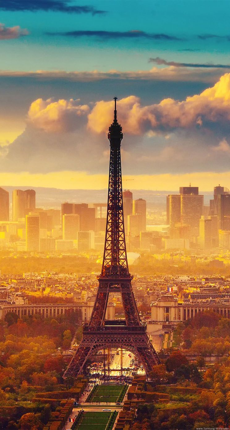 Eiffel Tower And Sunset Paris Paris Wallpaper Paris Wallpaper Iphone Eiffel Tower