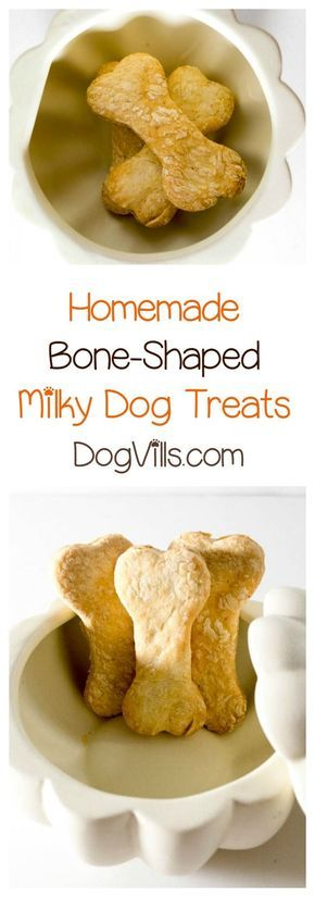 Whip up a super cute milky bone-shaped dog treat that's perfect for Halloween or anytime! It costs less than $0.50 a batch too!