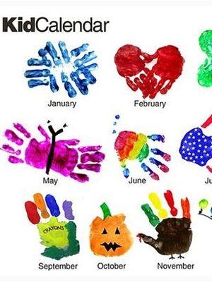 5 Cute Calendar Crafts For Kids Handprint Crafts Kids Calendar Crafts