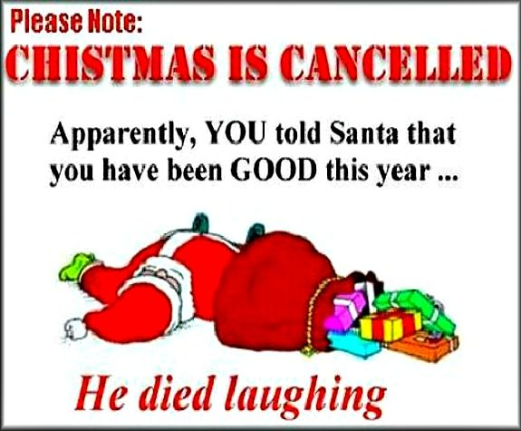 christmas jokes quotes christmas is cancelled very funny christmas joke christmas is - Jokes For Christmas