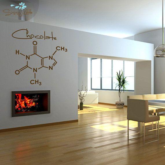 Molecular Sweetness  1 Large Vinyl Graphic Wall Decal (Honey, Cream,  Peppermint,