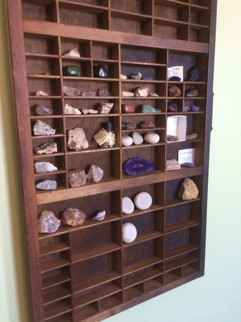 Letterpress Tray Rock Display In 2019 Rock Display Ideas