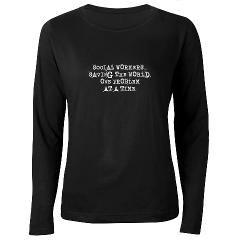 7f427489 social workers saving the world Darks Women's Long Sleeve Dark T-Shirt  social workers saving the world Darks Long Sleeve by Gigi - CafePress