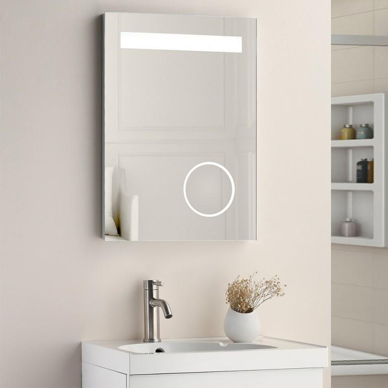 Vellamo Led Illuminated Magnifying Mirror With Demister Pad Shaver Socket 500 X 700mm Bathroom Mirror Bathroom Mirror Frame Grey Bathroom Mirrors