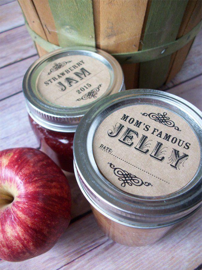 custom kraft canning labels pinterest canning jar labels
