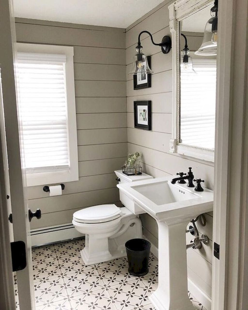 Best Of Small Farmhouse Bathroom With Pedestal Sink Bathroom Laundry In 2020 Small Farmhouse Bathroom Bathrooms Remodel Small Bathroom Remodel