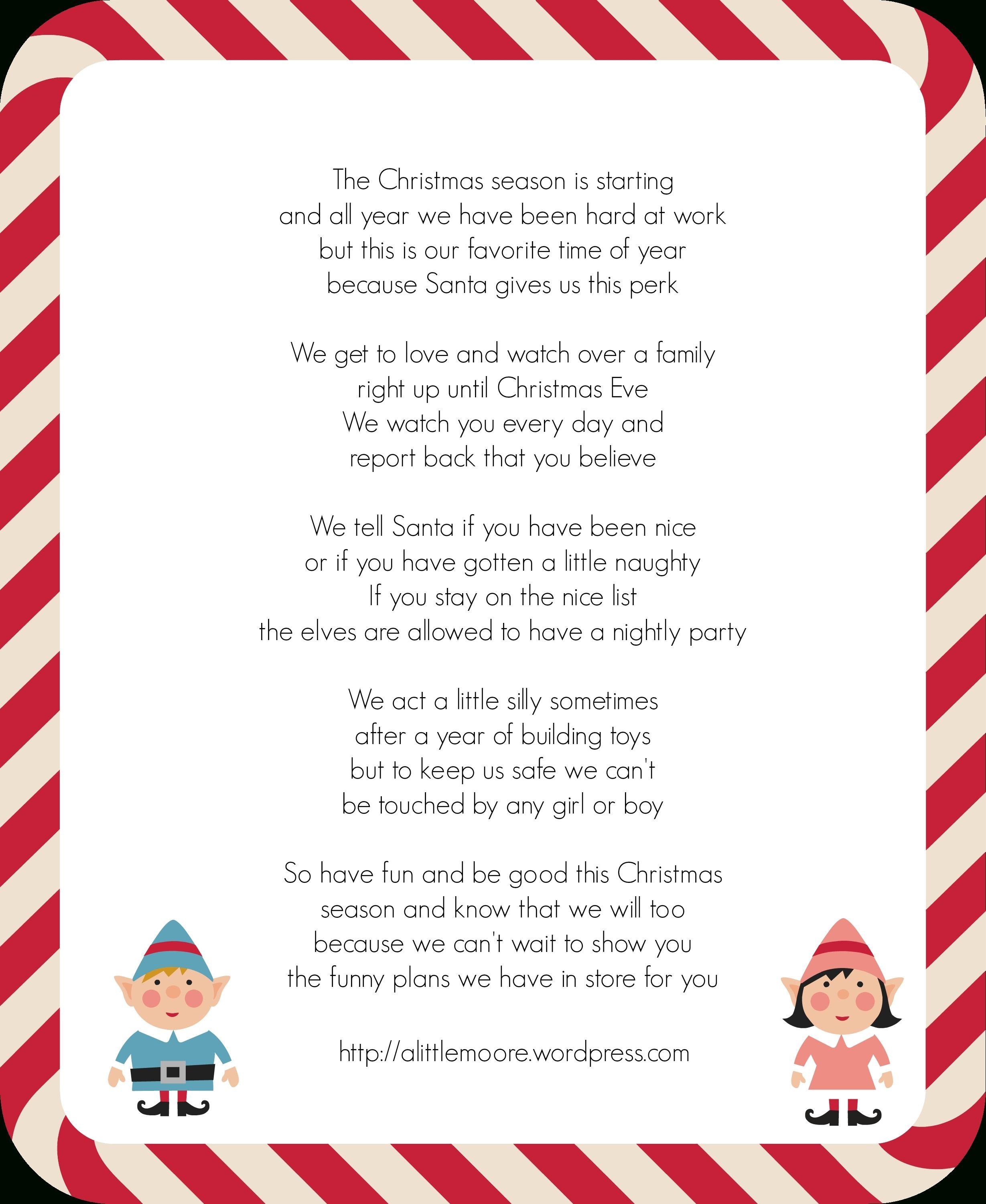 Image Of Elf On The Shelf Letter Template Download Word