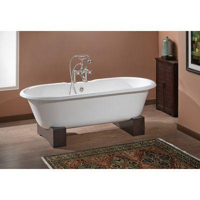 "CheviotProducts Regal 68"" x 31"" Soaking Bathtub Feet Finish: Dark Beech, Color: Biscuit Interior with Biscuit Exterior"
