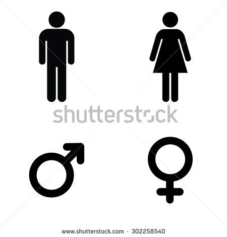 A Man And A Lady Toilet Sign And Male And Female Symbols Stock