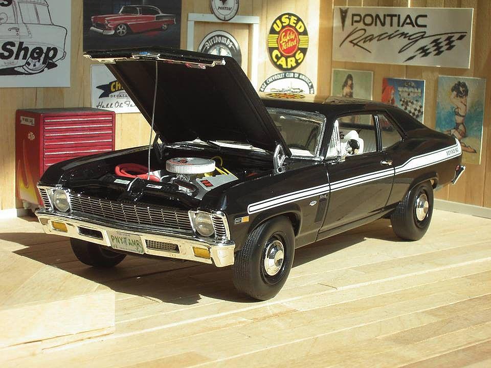 1969 chevy nova yenko plastic model car kit in 125 scale http