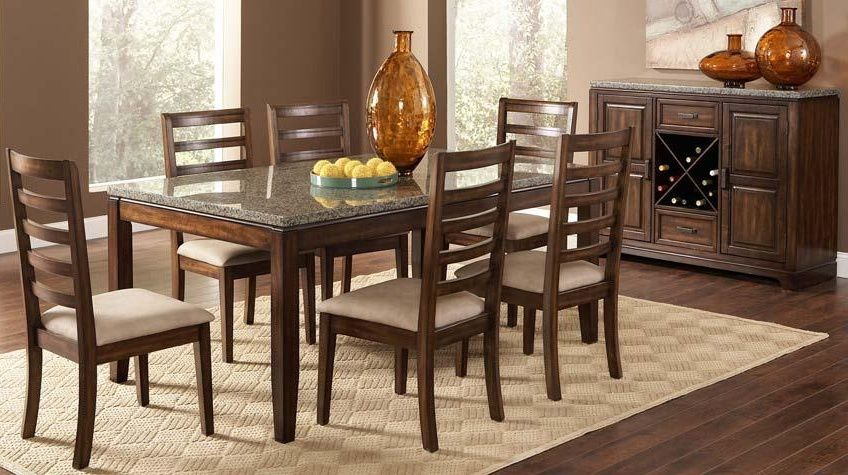 Granite Dining Table Geneva Dining Table Set With Granite Top
