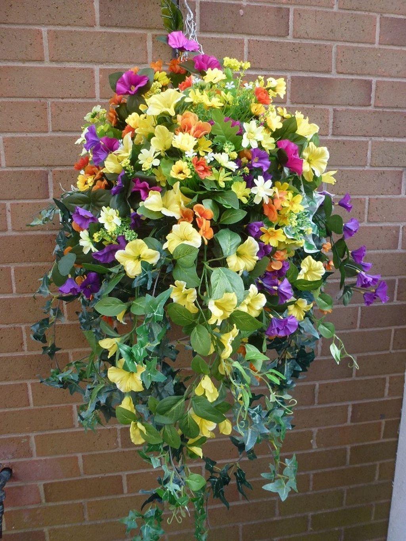 Stunning 36 Hanging Flower Basket Ideas Https Gardenmagz Com 36 Hanging Flower Basket Ideas Hanging Flower Baskets Artificial Hanging Baskets Hanging Plants