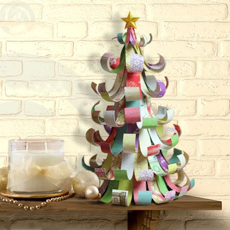 Pix For > Recycled Christmas Tree Made In Paper