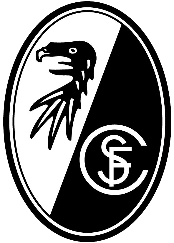 The club logo of SC Freiburg Soccer Pinterest