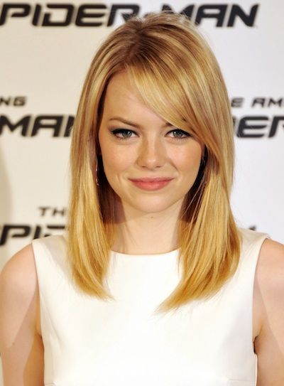 50 Best A Line Haircut Emma Stone Hair Hair Styles Medium Hair