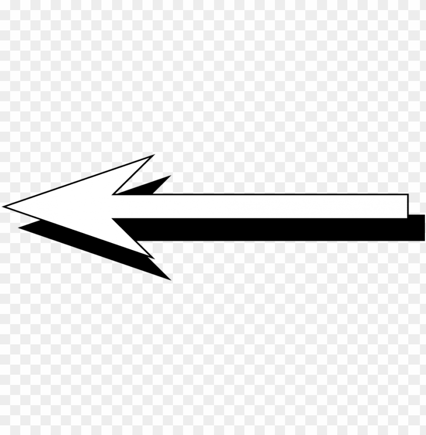 White Arrow Pointing Left Png Image With Transparent Background Png Free Png Images Arrow Pointing Left Arrow Point Png Images