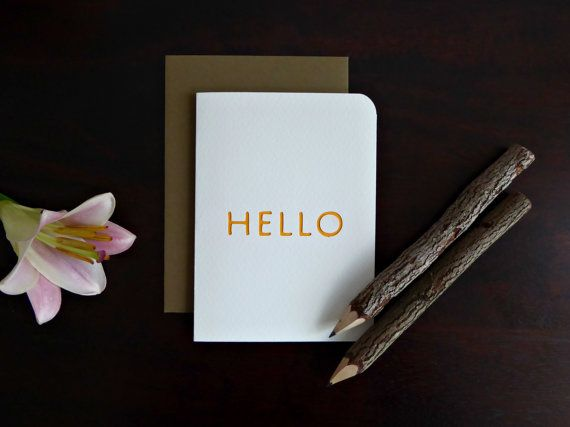 Simple yet beautiful Hello handmade card