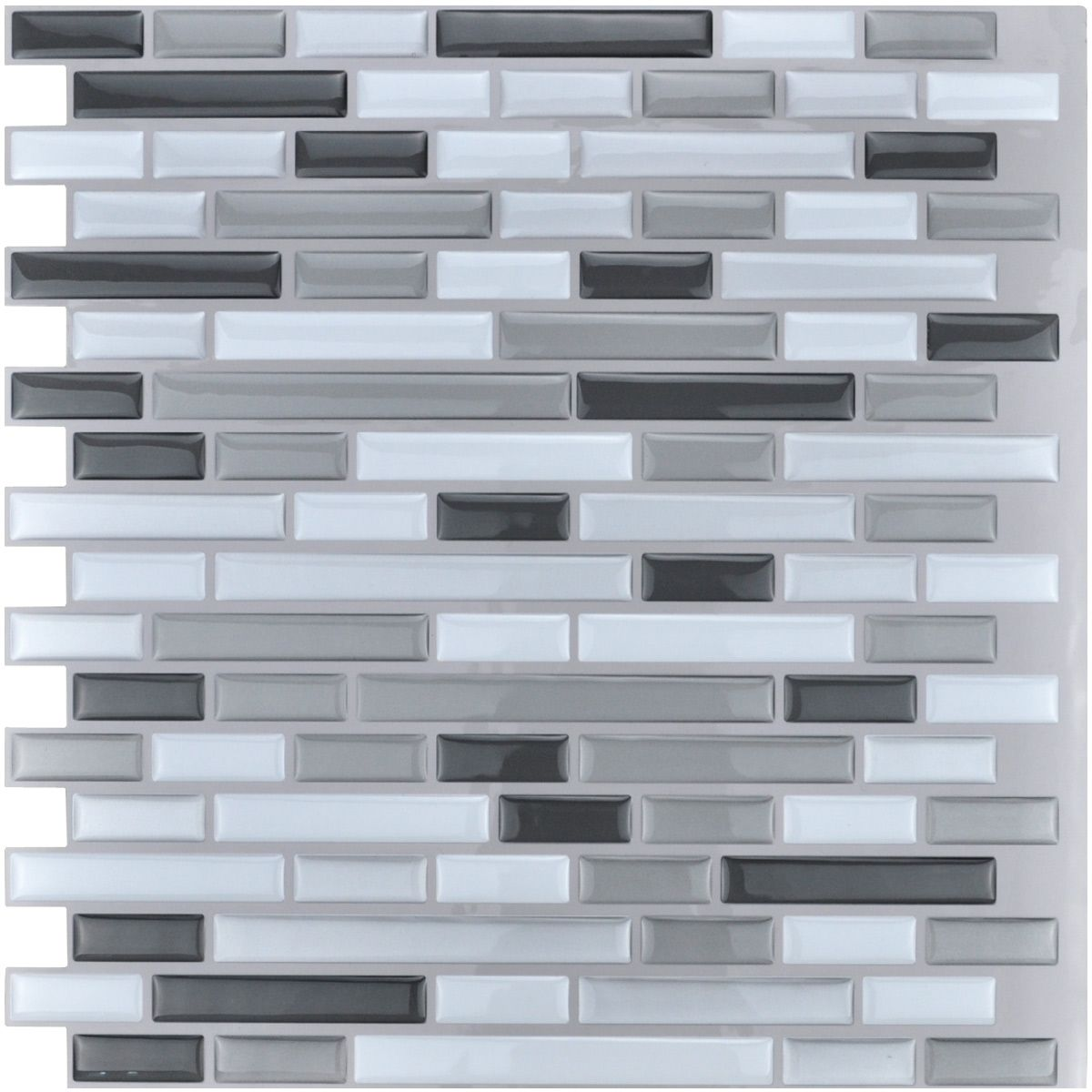 Stick On Tile Decorations Art3D Peel And Stick Tile Vinyl Kitchen Backsplash Greywhite 6