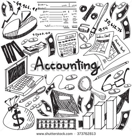 Accounting and financial education handwriting doodle icon