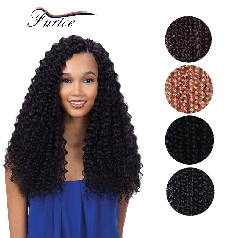 High Quality Freetress Curly Crochet Hair Extensions 90gpcs 18inch