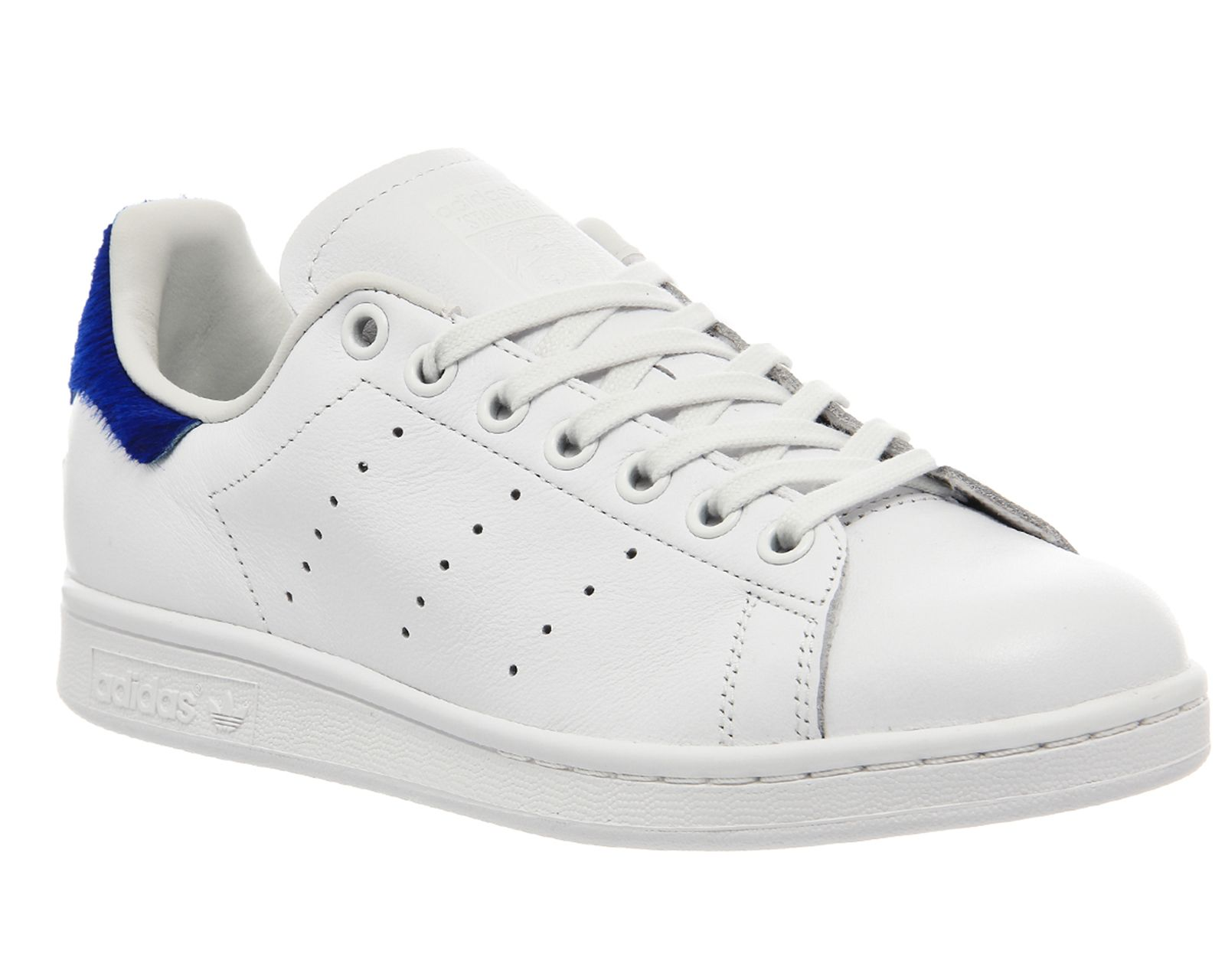 aef9c9ee93b Buy Vintage White Blue Pony Adidas Stan Smith Trainers from OFFICE.co.uk.