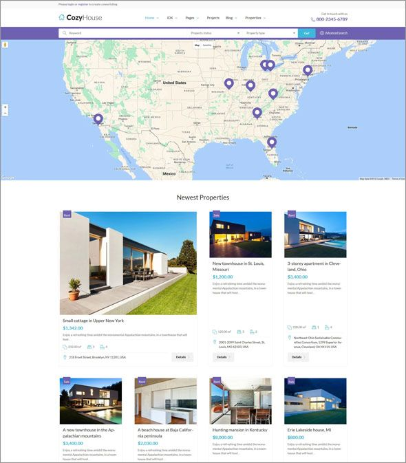 Search 100 Real Estate Website Themes Templates In 2018 Website