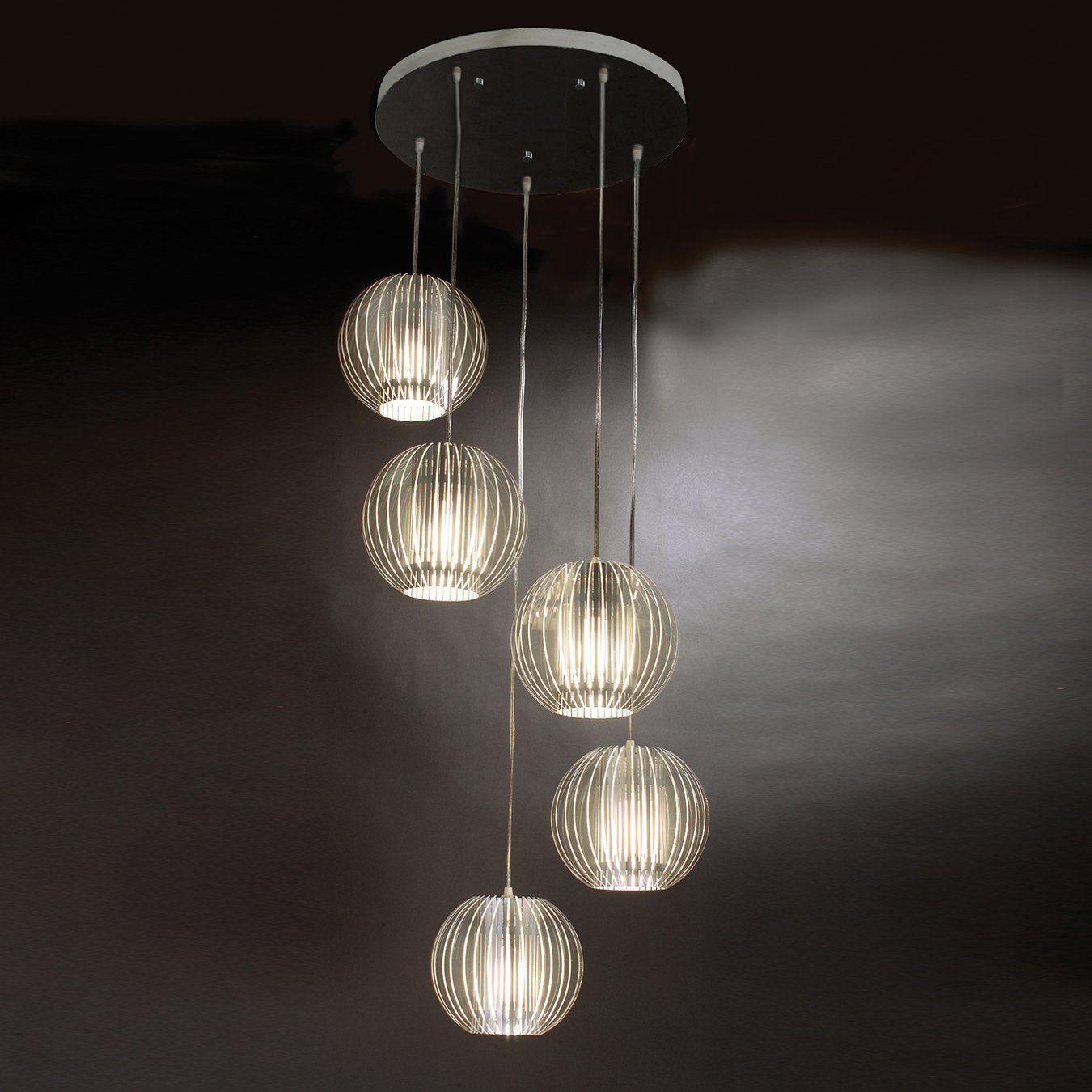 multi light pendant lighting. Trend Lighting TP6300-5 5 Light Phoenix Multi-Light Pendant, Clear Acrylic - Multi Pendant