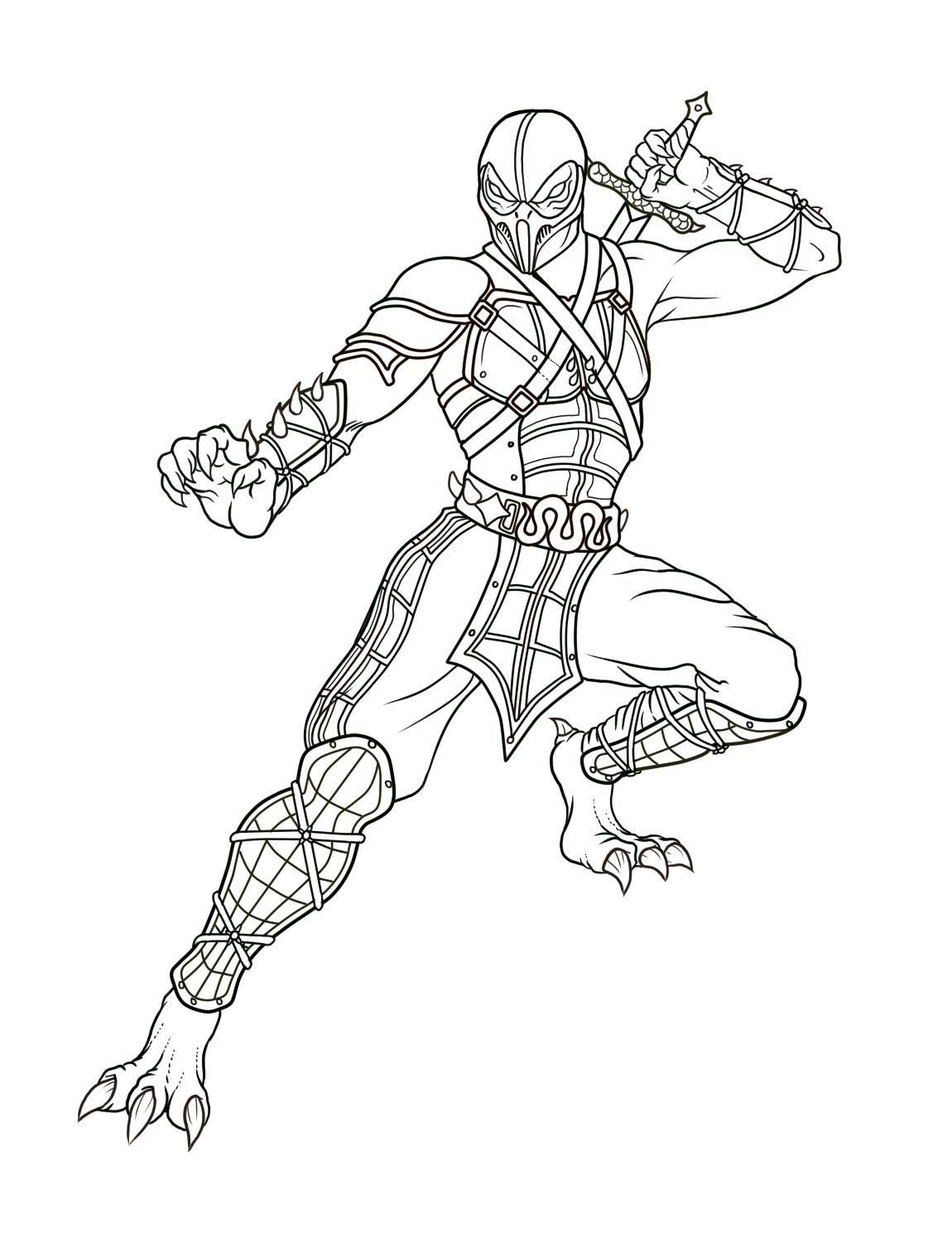 Mortal Kombat Coloring Pages Coloring Pages Coloring Pages For