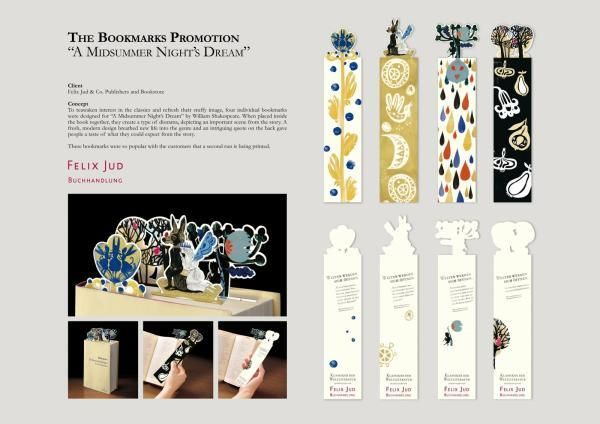 literary art: classic with matching bookmarks