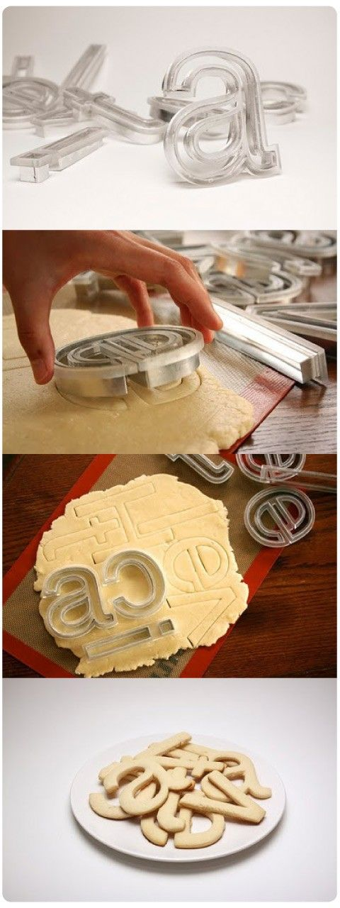 I Want. Font Cookie Cutters.